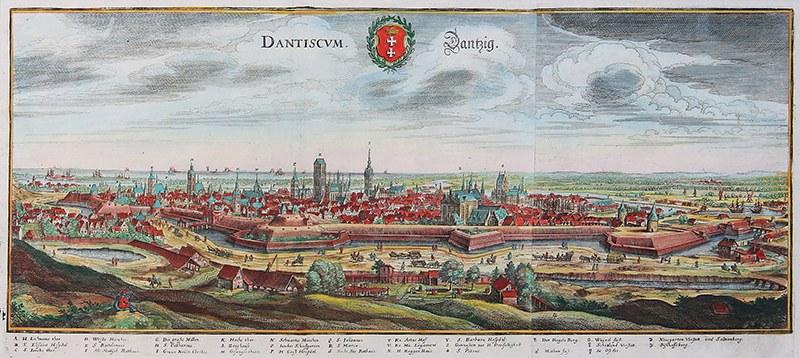 Matthäus Merian (1593-1650) Dantiscum/danzig