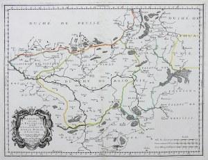 Nicolas Sanson (1600-1667) Masovie Duché et Polaquie; ou sont les Palatinatus de Czersk, Bielsk, et Plocsko...