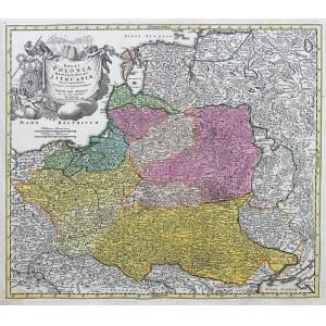 Johann Baptist Homann (1664-1724) Regni Poloniae Magnique Ducat Lithuaniae…