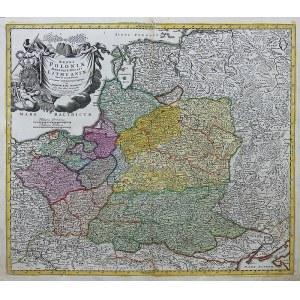 Johann Baptist Homann (1664-1724) Regni Poloniae Magnique Ducat Lithuaniae...