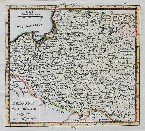 Gilles Robert de Vaugondy (1688-1766) Pologne par le Sr. Robert de Vaugondy…