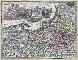 Matthäus Seutter (1678-1756) Borussiae Regnum cum adjacentibus Regionibus mappa…