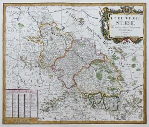 Tobias Mayer (1723-1762) Le Duché de Silesie tel quil est suivant...