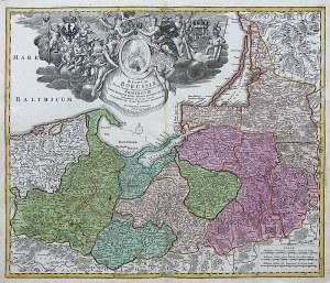 Johann Baptist Homann (1664-1724) Regnum Borussiae gloriosis auspicijs...