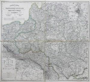 Friedrich Handtke (1815-1879) General-karte vom Westlichen Russland nebst Preussen, Posen und Galizien