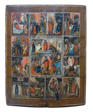 Ikona Zmartwychwstania Chrystusa i dwunastu wielkich świąt cerkiewnych
