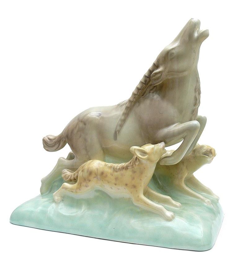 Figura gazeli atakowanej przez hieny