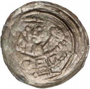 Mieszko III, Brakteat hebrajski - Anioł - rzadkość