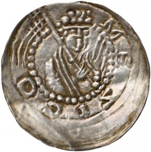Mieszko III, Brakteat łaciński, Gniezno? - Książę z proporcem - RZADKOŚĆ