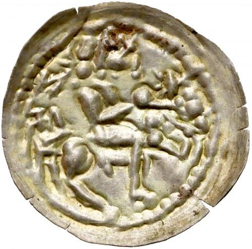 Mieszko III, Brakteat łaciński - Książe na koniu - PIĘKNY