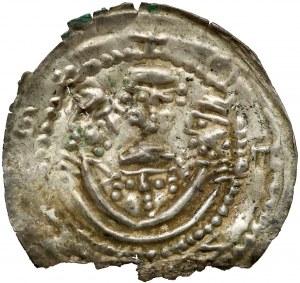 Mieszko III, Brakteat łaciński, Gniezno - cztery głowy -