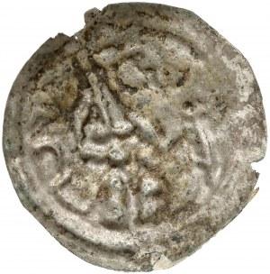 Mieszko III, Brakteat hebrajski - książę z mieczem i wieżą - b.rzadki