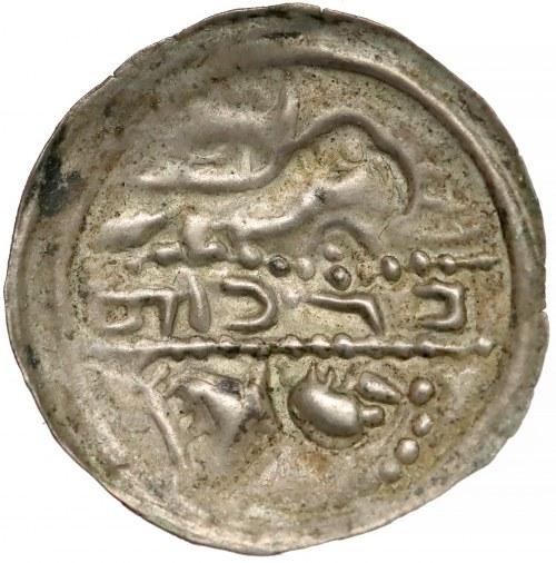 Mieszko III, Brakteat hebrajski - Ptak nad trumną - b. rzadki