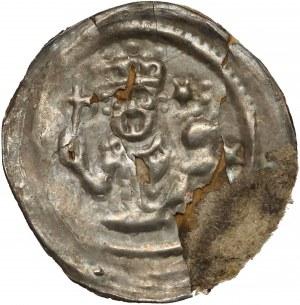 Bolesław Mieszkowic / Lestek Bolesławowic, Brakteat - król / książę z berłem (R6)