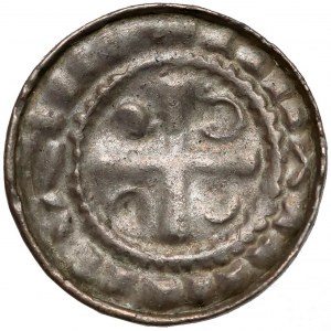 Denar krzyżowy CNP VI - prawdopodobnie Polska około 1080 r.