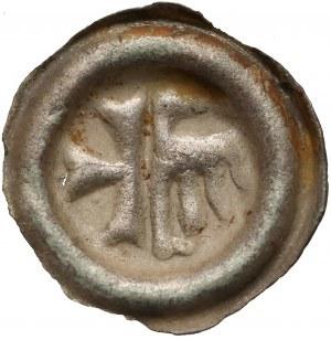 Śląsk, Ks. Opolskie, Mikołaj I (1439-1476), Brakteat Opole - Pół krzyż pół orzeł