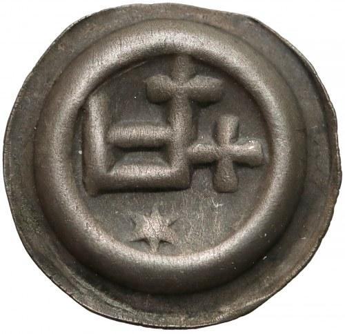 Zakon Krzyżacki, Brakteat - Prostokąt - D (1345-1353) - PIĘKNY