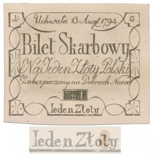Insurekcja Kościuszkowska 1 ZŁOTY 1794 - G - z błędem ZŁOLY