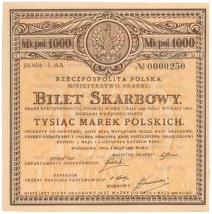 Bilet Skarbowy, Serja I AA 1.000 mkp 1920