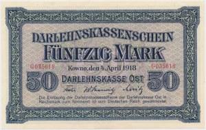Kowno, 50 marek 1918 - G