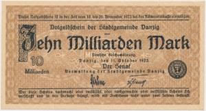 Gdańsk, 10 mld marek 1923 - bez numeracji