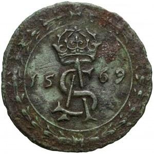 Zygmunt II August, Podskarbiówka królewska / liczman Wilno 1569 (R7)
