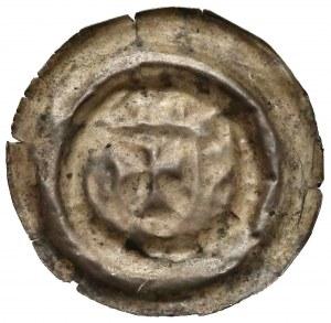Zakon Krzyżacki, Brakteat szeroki - ramię z proporcem (1236-1248) - rzadki