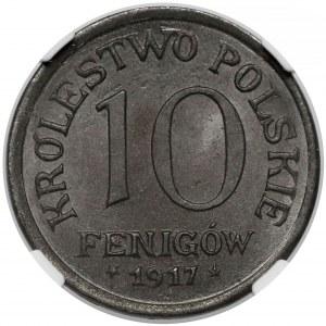 Królestwo Polskie, 10 fenigów 1917