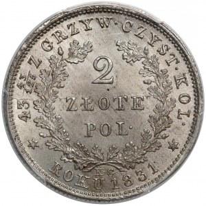 Powstanie Listopadowe, 2 złote 1831 - MAŁA Pogoń - PIĘKNE