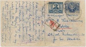 Lwów, kartka pocztowa na banknocie 500 mln mark 1923