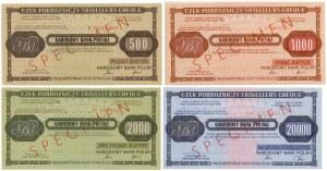 WZORY Czeków Podróżniczych NBP 500-20.000 zł (4szt)