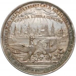 August III Sas, Medal Gdańsk, 300-lecie przyłączenia Prus do Polski 1754 - EFEKTOWNY