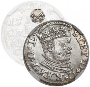 Stefan Batory, Trojak Ryga 1586 - BEZ KRZYŻA - rzadkość