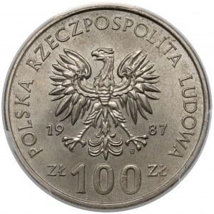 Próba MIEDZIONIKIEL 100 złotych 1987 Kazimierz III Wielki - PCGS SP65