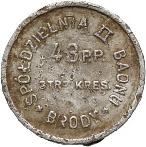 Brody, 43 Pułk Piechoty Strzelców Kresowych, 1 złoty