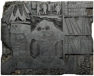 Matryca ekslibrisu JÓZEF GRYGIEL - projekt W. Barylski