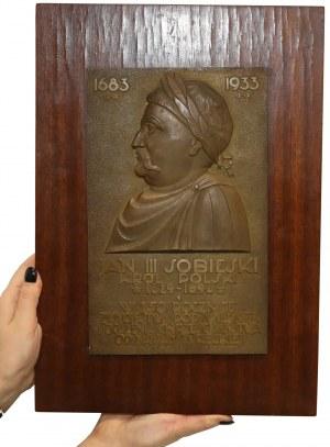 Plakieta MW (28x18cm) Jan III Sobieski, Odsiecz..., 1933 r.- EFEKTOWNA