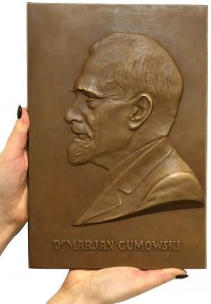 Plakieta (29x19cm) Dr. Marjan Gumowski 1944 r. - rzadkość