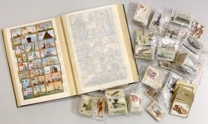 Stare karty z papierosów w klaserze i luzem
