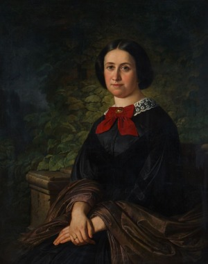 Karl WOHNLICH, PORTRET MŁODEJ DAMY, 1860