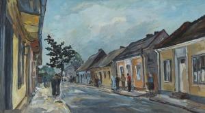Władysław RATUSIŃSKI, ULICA W WIELUNIU, 1978