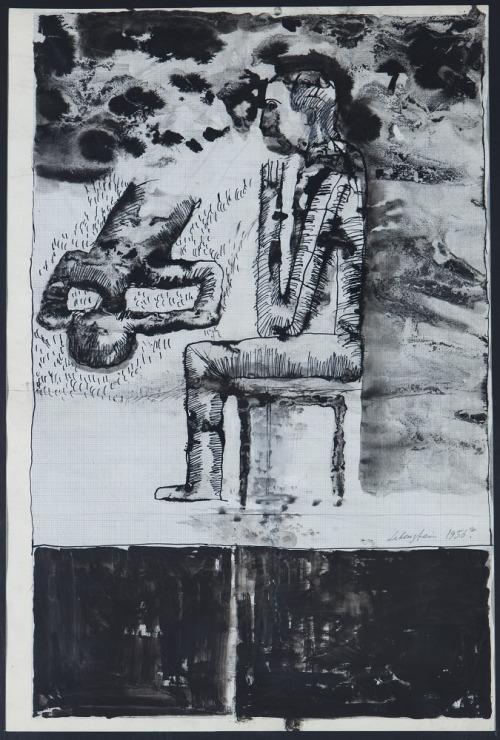 Jan LEBENSTEIN, POSTAĆ SIEDZĄCA, 1956