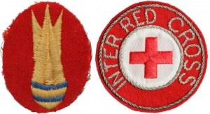 Naszywki: 10 Pluton Rozbrajania Bomb i Międzynarodowy Czerwony Krzyż