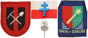 Naszywki IIWŚ (3) i Odznaka Polskich Oddziałów Pracy we Francji