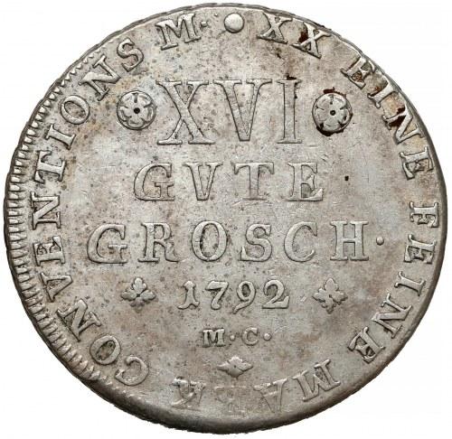 Niemcy, Brunszwik-Lüneburg, 16 dobrych groszy 1792 MC