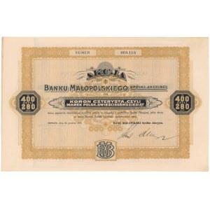 Bank Małopolski, 400 koron 1919