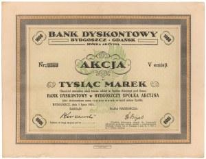 Bank Dyskontowy w Bydgoszczy, Em.5, 1.000 mkp 1921