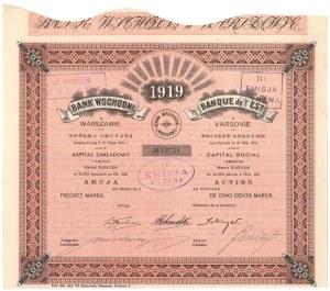 Bank Wschodni w Warszawie, Em.1, 500 mkp 1919