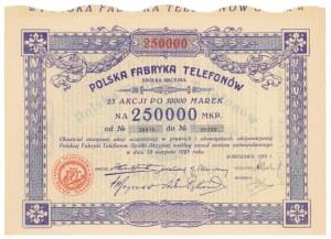 Polska Fabryka Telefonów, 25x 10.000 mkp 1923