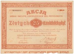 Spółka Akc. Eksploatacji Soli Potasowych, Em.2, 25 zł 1928